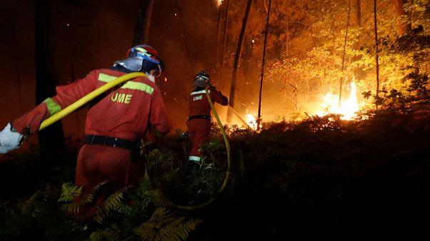 Nine dead as wildfires ravage northern Portugal, Spain