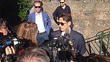 P.Silvio Berlusconi al funerale di Puny
