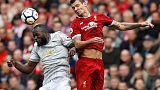 Liverpool's Lovren accuses Lukaku of deliberate kick to face
