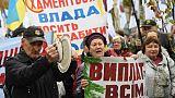 Ukraine: des milliers de manifestants contre la corruption, deux blessés