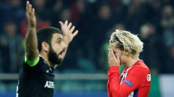 Struggling Atletico held by spirited Qarabag