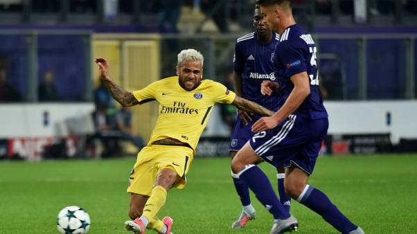 PSG attacking trio on target in thumping win at Anderlecht
