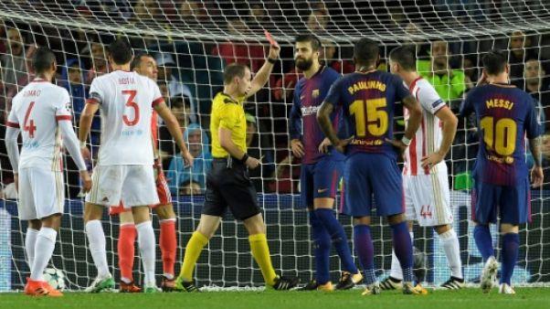 Ligue des champions: le Barça s'impose à dix, le Camp Nou mobilisé pour la Catalogne