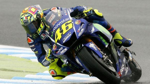 """Motogp, Rossi """"dolori a spalla"""""""