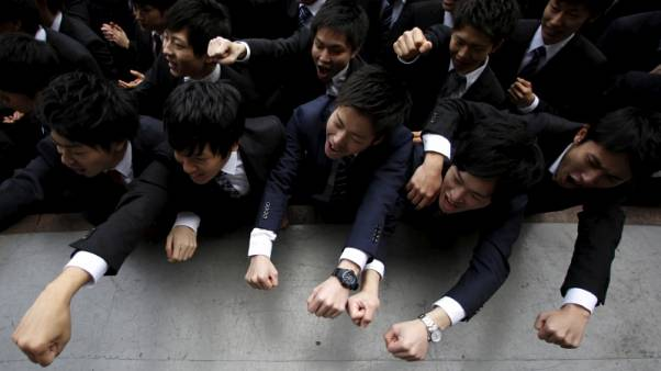 Young Japanese voters, happy with job market, lean towards ruling party