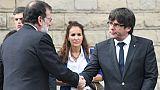 Espagne: Rajoy et Puigdemont, les deux protagonistes de la crise catalane