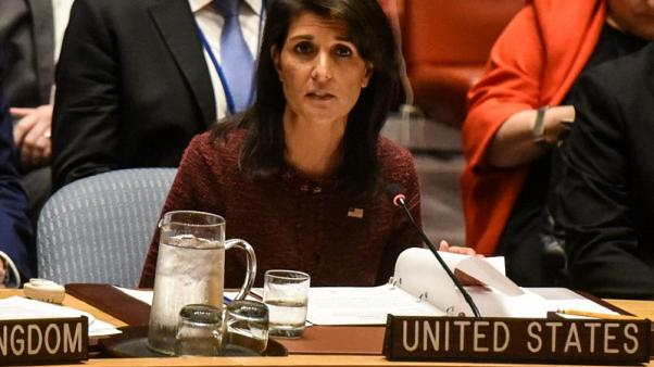 U.S. envoy Haley - Russia interference in elections is 'warfare'