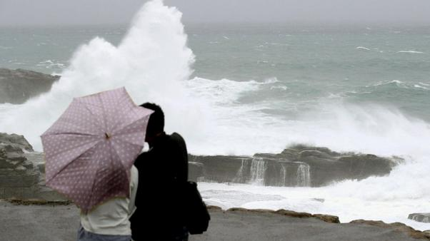 Typhoon bears down on Japan, will hinder voting in national election