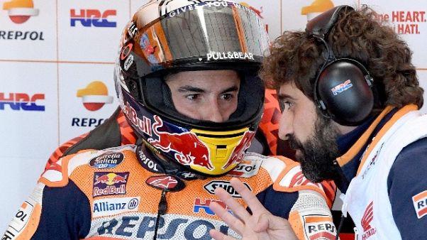 Moto: Marquez, buon lavoro sulle gomme