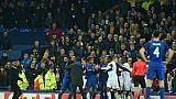 Echauffourées lors du match entre Everton et Lyon, le 19 octobre 2017 à Liverpool