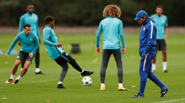 Conte says Chelsea are training 70 percent less