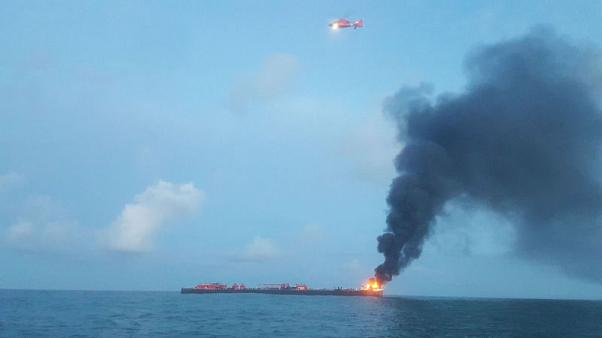 Crude oil barge explodes off Texas, two missing - U.S. Coast Guard