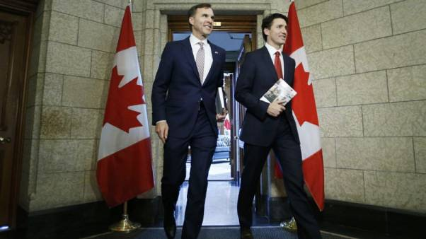Canada's Liberals look to economy to guide them past ethics scandal
