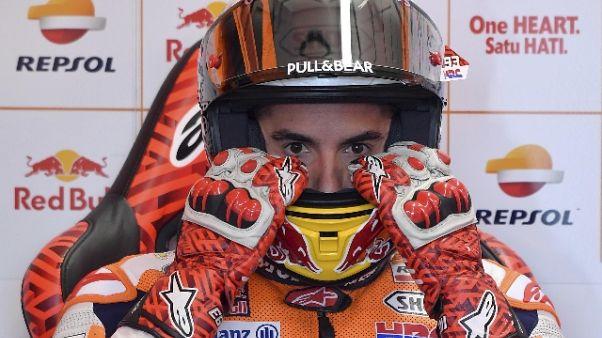 MotoGp: Marquez, bene nel passo gara