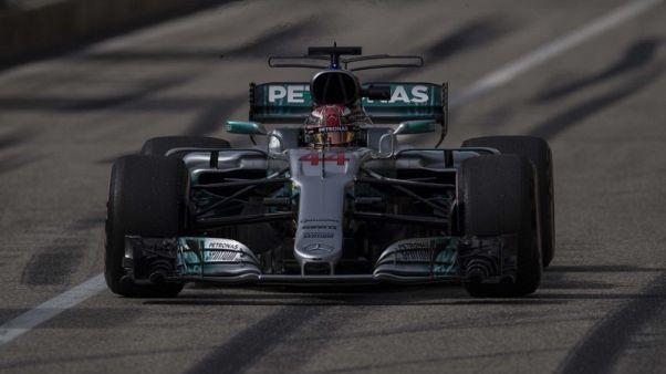 Hamilton completes U.S. Grand Prix practice sweep
