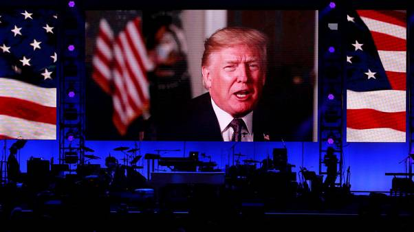 Trump video played at hurricane relief concert