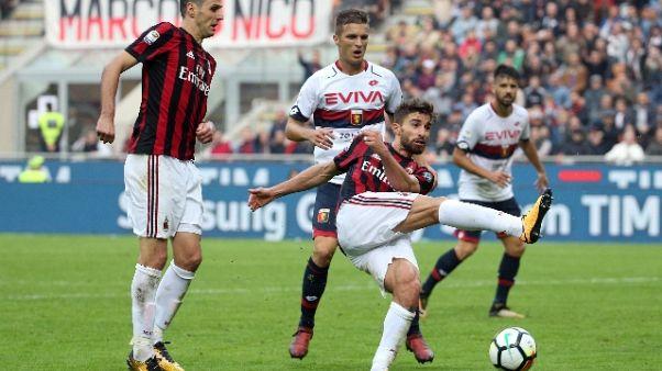 Fischi sul Milan dopo 0-0 con Genoa