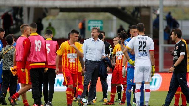 Benevento, la delusione dei tifosi