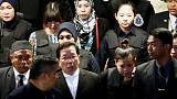 Chaotic scene as suspects wheeled around at Kim Jong Nam murder site