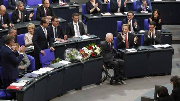 Former Finance Minister Schaeuble elected to head German parliament