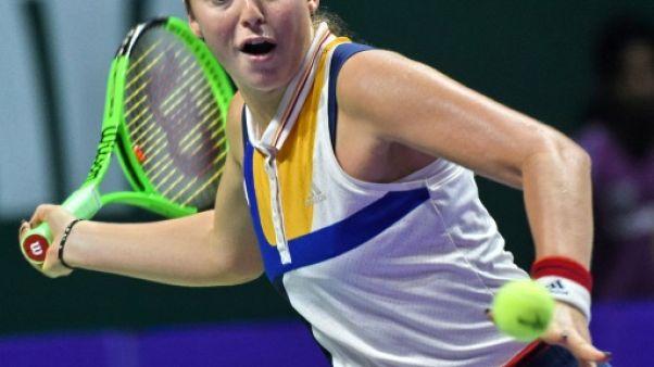 Tennis: Ostapenko sauve l'honneur au Masters face à Pliskova