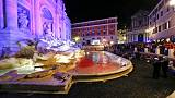 Rome's Trevi fountain runs red after man pours dye in water