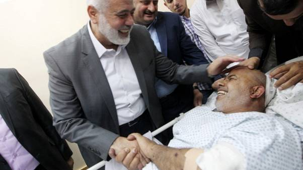 Hamas says its security chief wounded in Gaza car bombing