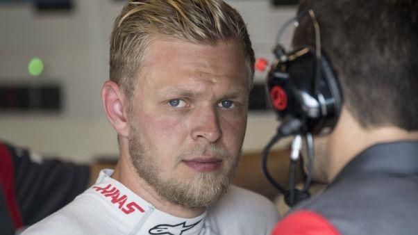 Motor racing - Unwell Magnussen to undergo fitness test