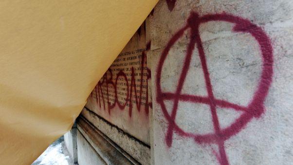 Rogo auto Poste rivendicato da anarchici