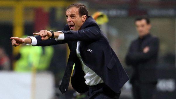 """Calcio: Allegri """"solidità, bella prova"""""""