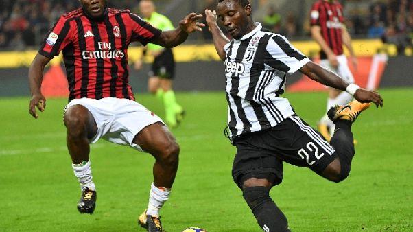 Champions: Asamoah,a Lisbona per vincere