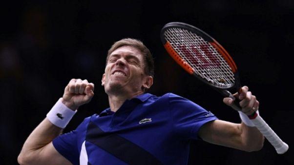 Tennis: Mahut s'en sort de justesse à Paris-Bercy