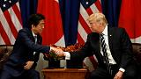 Trump, Japan's Abe agree to work together on North Korea before Asia visit