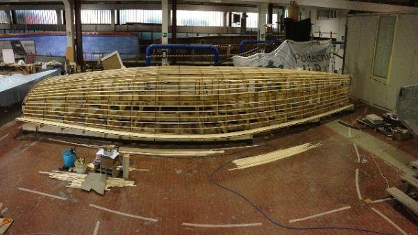Barca vela costruita in Politecnico Bari