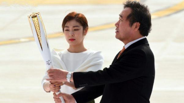 JO d'hiver 2018: la flamme olympique est arrivée en Corée du Sud