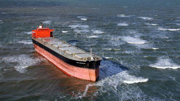 Rescue team frees 'Glory Amsterdam' freighter from German sandbar