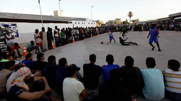 Migrant football tournament eases misery of Libya journeys