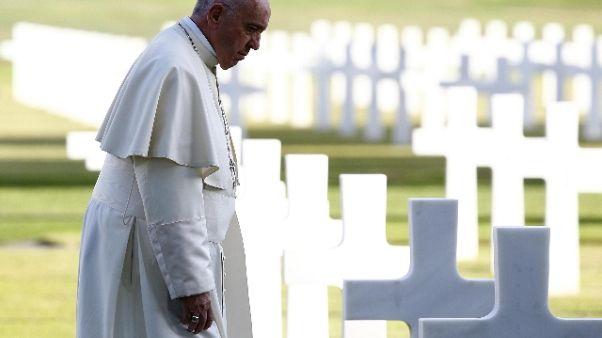 Papa: mai più guerra, una strage inutile