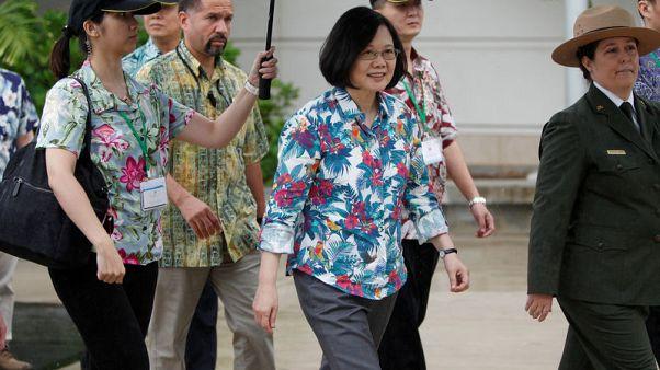 Taiwan president visits U.S. territory of Guam despite Chinese ire