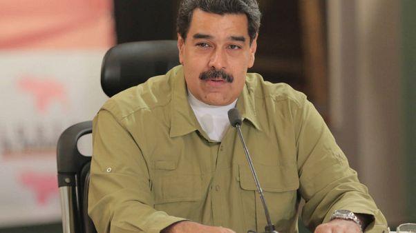 Venezuela's President Nicolas Maduro speaks during a meeting with ministers in Caracas, Venezuela November 6, 2017. Miraflores Palace/Handout via REUTERS