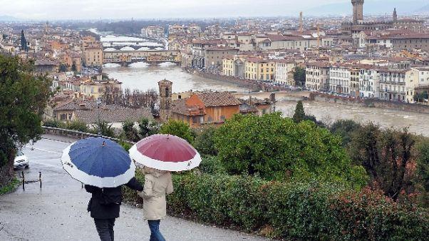 Maltempo:codice giallo domani in Toscana