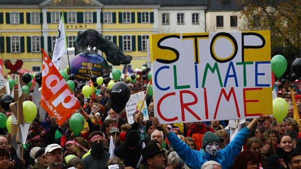 Thousands march against coal ahead of climate conference in Bonn