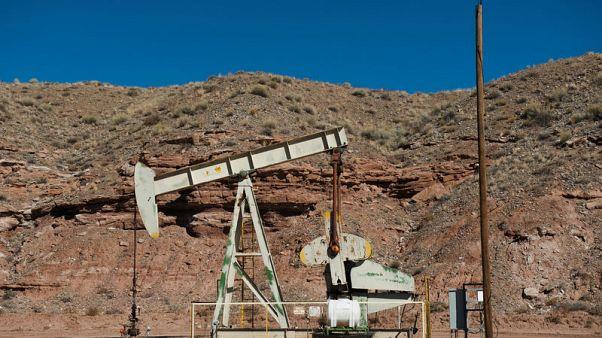 Oil pumpjacks are seen near Aneth, Utah, U.S., October 29, 2017. REUTERS/Andrew Cullen