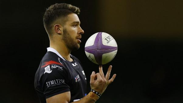 FILE PHOTO - Britain Rugby Union - Ospreys v Stade Francais Paris - European Rugby Challenge Cup Quarter Final - Principality Stadium, Cardiff, Wales - 2/4/17 Ospreys' Rhys Webb. Action Images via Reuters / Peter Cziborra
