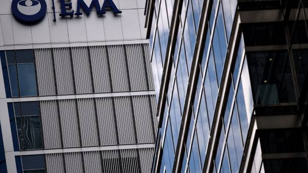 FILE PHOTO: The headquarters of the European Medicines Agency (EMA) is seen in London, Britain April 25, 2017. REUTERS/Hannah McKay/File Photo