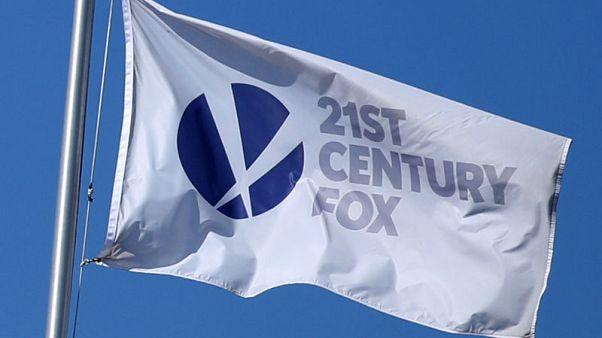 The Twenty-First Century Fox Studios flag flies over the company building in Los Angeles, California U.S. November 6, 2017. REUTERS/Lucy Nicholson