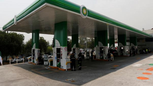 FILE PHOTO: A general view of a new BP petrol station on the outskirts of Mexico City, Mexico, March 9, 2017. REUTERS/Carlos Jasso/File Photo
