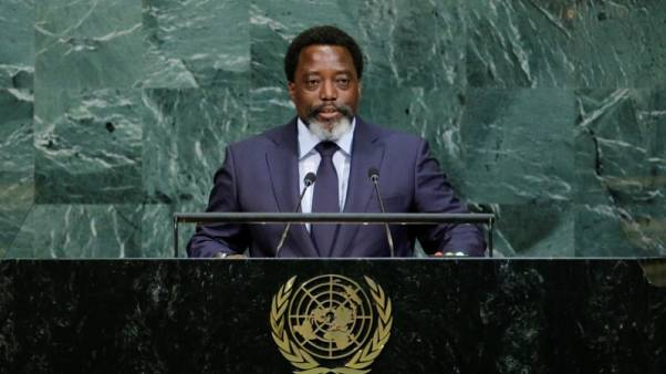 FILE PHOTO - Joseph Kabila Kabange, President of the Democratic Republic of the Congo addresses the 72nd United Nations General Assembly at U.N. headquarters in New York, U.S., September 23, 2017. REUTERS/Eduardo Munoz