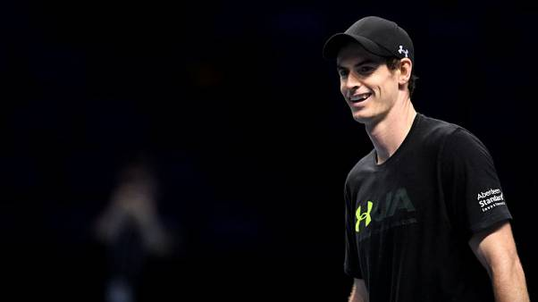 Tennis - ATP World Tour Finals Preview - The O2 Arena, London, Britain - November 11, 2017  Great Britain's Andy Murray during practice  Action Images via Reuters/Tony O'Brien