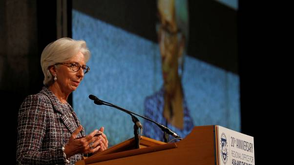 IMF's Lagarde warns protectionism, while now just words, may come to hurt Asia